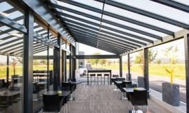 Terrado réalisée pour la station de lavage Calo SA Café Shop à Payerne.